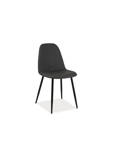 Chaise - Teo - L 46 cm x l 38 cm x H 88 cm - Gris