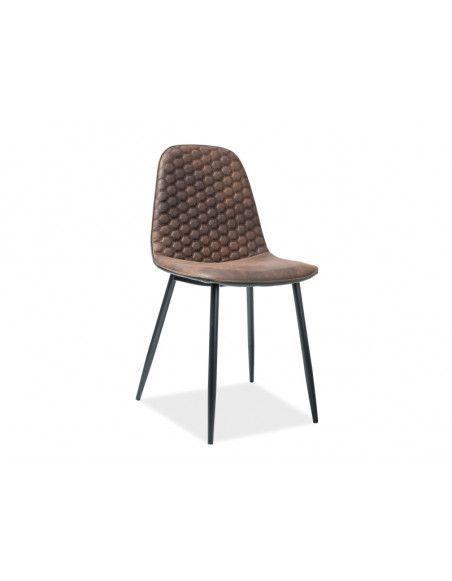 Chaise - Teo - L 46 cm x l 38 cm x H 88 cm - Marron