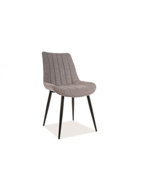 Chaise - Zoom - L 51 cm x l 43 cm x H 87 cm - Gris