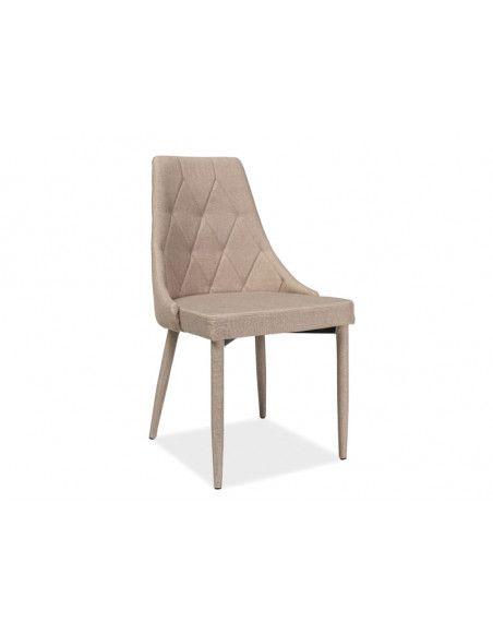 Chaise en velours - Trix - 46 x 46 cm x H 88 cm - Beige