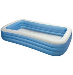 Piscine gonflable rectangulaire family - Bleu - Intex