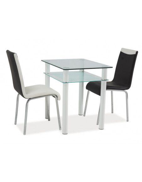 Table Sono - L 80 x l 60 x H 75 cm - Transparent