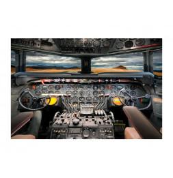 Tableau en verre - Airplane - L 120 cm x H 80 cm