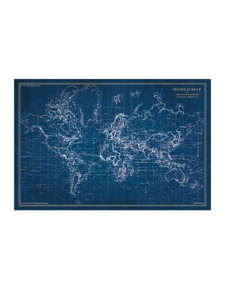 Tableau en verre - Map - L 120 cm x H 80 cm