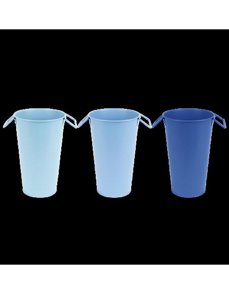 Vase de jardin - L 11,7 x l 12,1 x H 17,8 cm - Couleur aléatoire
