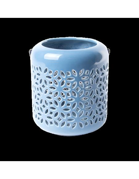 Lanterne extérieure - L 11,9 x l 11,9 x H 13,5 cm - Bleu