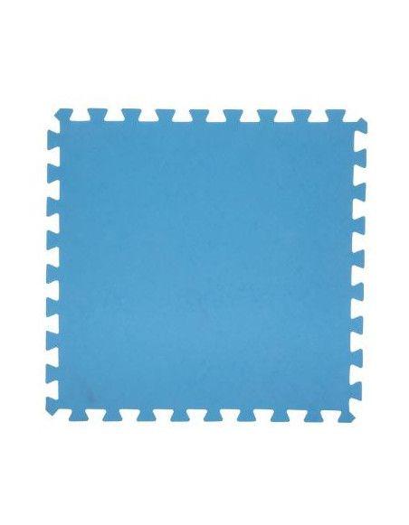 Lot de 8 dalles de sol modulables - Piscine - 50 x 50 cm - Bleu