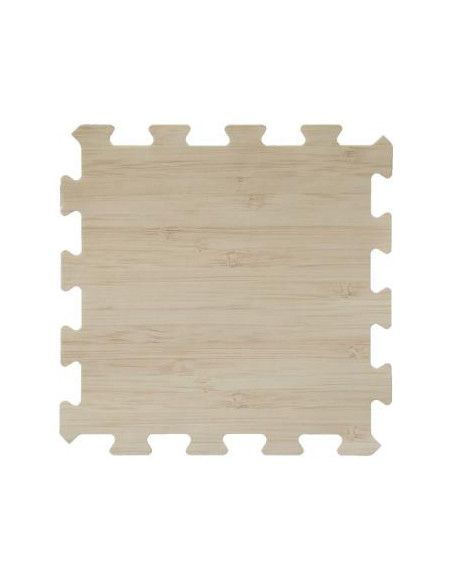 Lot de 8 dalles de sol modulables - Piscine - 50 x 50 cm - Beige