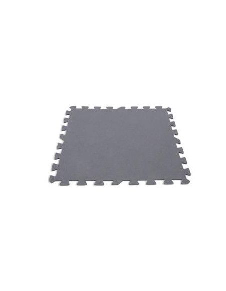 Lot de 8 dalles de sol modulables - Piscine - 50 x 50 cm - Gris