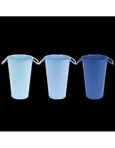 Vase de jardin - L 16,1 x l 16,2 x H 25,9 cm - Couleur aléatoire