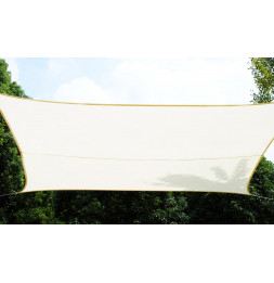 Voile d'ombrage rectangulaire - Blanc - Toile solaire 3 x 4 m