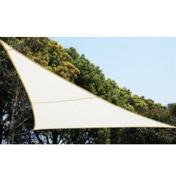 Voile d'ombrage triangulaire - Blanc - Toile solaire 5 x 5 x 5 m