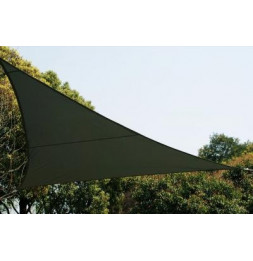 Voile d'ombrage triangulaire - Gris - Toile solaire 5 x 5 x 5 m