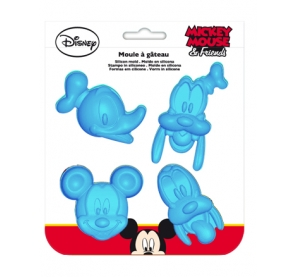 Moule à gateau Mickey et ses amis - Silicone - Bleu
