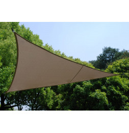 Voile d'ombrage triangulaire - Toile solaire 2 x 2 x 2 m - Taupe