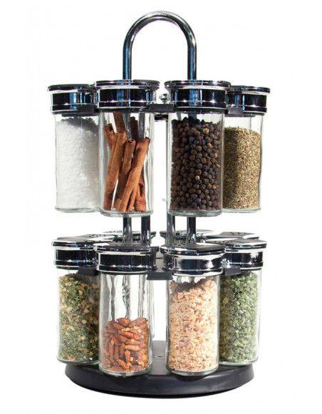 Carrousel a épices rotatif - 16 pots - 2 étages
