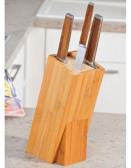 Bloc couteaux universel - Bambou - Support couteaux